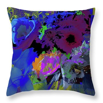 Abstract Flowers Of Light Series #18 Throw Pillow