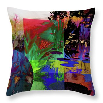 Abstract Flowers Of Light Series #19 Throw Pillow