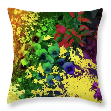 Abstract Flowers Of Light Series #2 Throw Pillow