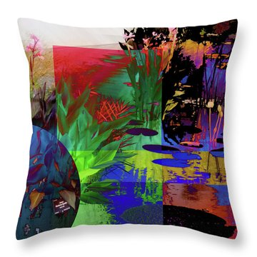 Abstract Flowers Of Light Series #21 Throw Pillow