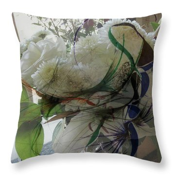 Abstract Flowers Of Light Series #3 Throw Pillow