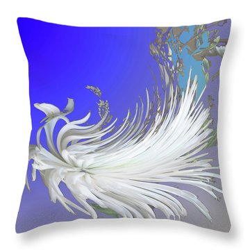 Abstract Flowers Of Light Series #4 Throw Pillow