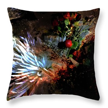 Abstract Flowers Of Light Series #5 Throw Pillow