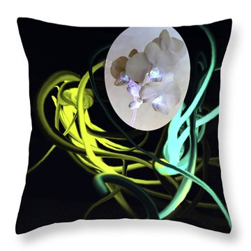 Abstract Flowers Of Light Series #6 Throw Pillow