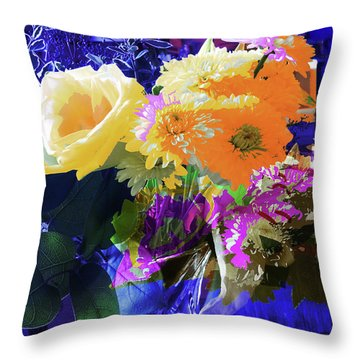 Abstract Flowers Of Light Series #7 Throw Pillow