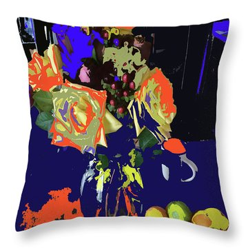 Abstract Flowers Of Light Series #8 Throw Pillow
