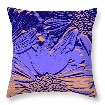 Abstract Flowers 2 Throw Pillow