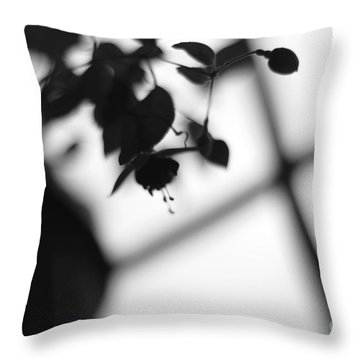 Abstract Flowers Throw Pillow by Todd A Blanchard