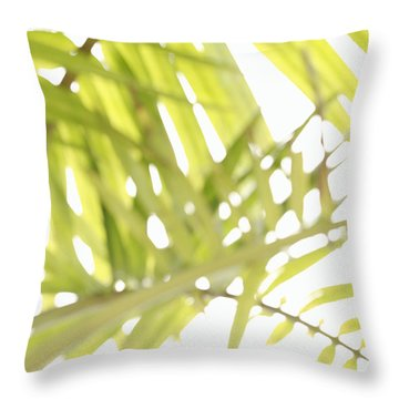 Abstract Foliage Throw Pillow by Gaspar Avila
