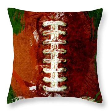 Abstract Football Throw Pillow by David G Paul