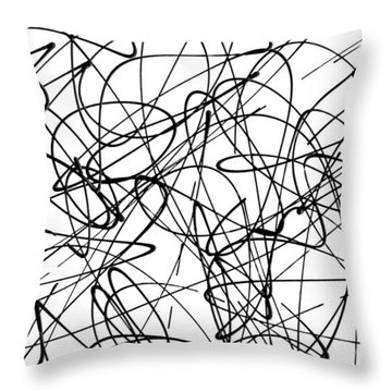 Abstract For Cave Exploration Throw Pillow