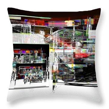 Abstract Fountain Throw Pillow