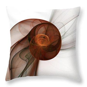 Abstract Fractal Art Throw Pillow by Gabiw Art