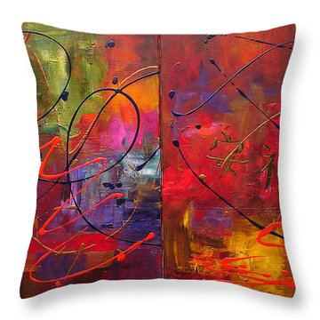 Abstract Fractals 706 Throw Pillow by Mary Jo Zorad