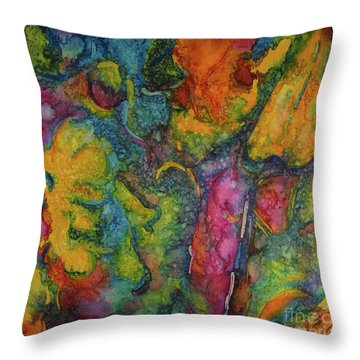 Abstract From Kansas City Throw Pillow by Jacqueline Phillips-Weatherly