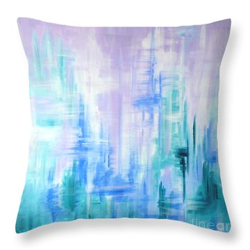 Abstract Frost 2 Throw Pillow