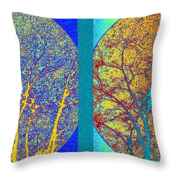 Throw Pillow featuring the digital art Abstract Fusion 276 by Will Borden