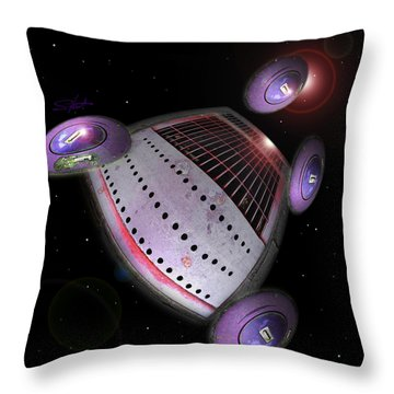 Abstract Future Throw Pillow by Charles Stuart