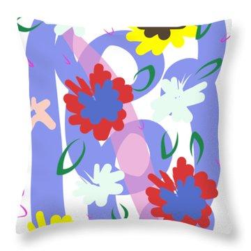 Abstract Garden #1 Throw Pillow