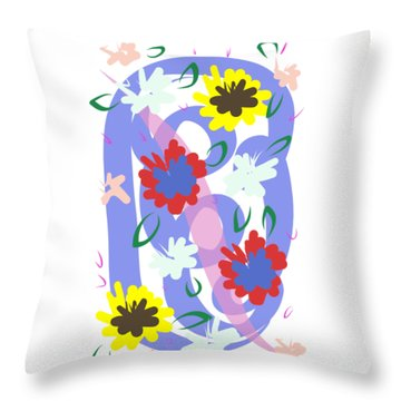 Throw Pillow featuring the digital art Abstract Garden #1 by Bee-Bee Deigner