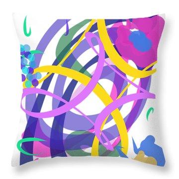 Abstract Garden #2 Throw Pillow