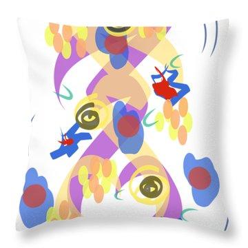 Abstract Garden #5 Throw Pillow