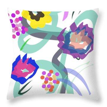 Abstract Garden Nr 4 Throw Pillow