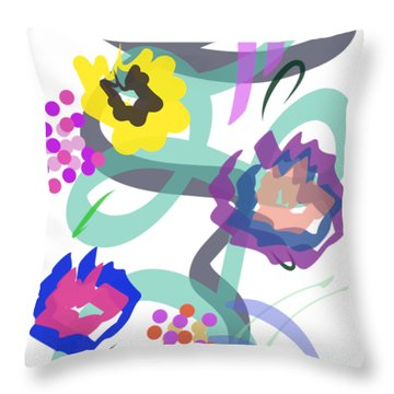 Throw Pillow featuring the digital art Abstract Garden Nr 4 by Bee-Bee Deigner