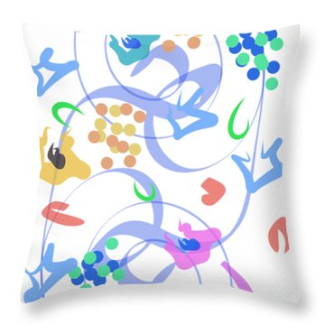 Throw Pillow featuring the digital art Abstract Garden Nr 6 by Bee-Bee Deigner