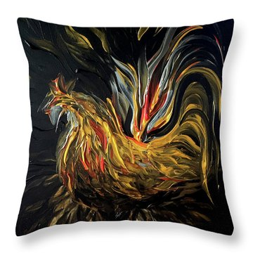 Abstract Gayu Throw Pillow