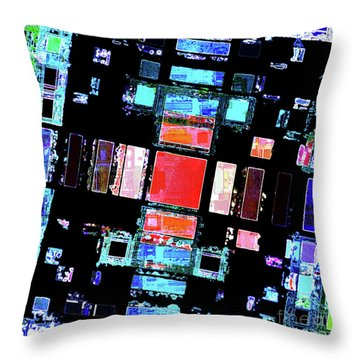 Throw Pillow featuring the digital art Abstract Geometric Art by Phil Perkins