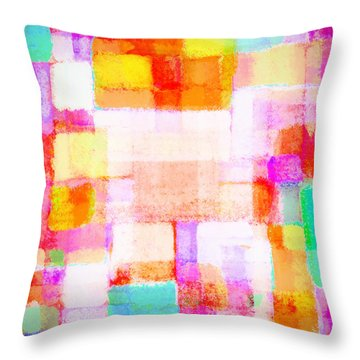 Abstract Geometric Colorful Pattern Throw Pillow by Setsiri Silapasuwanchai