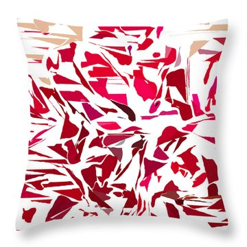 Abstract Geranium Throw Pillow
