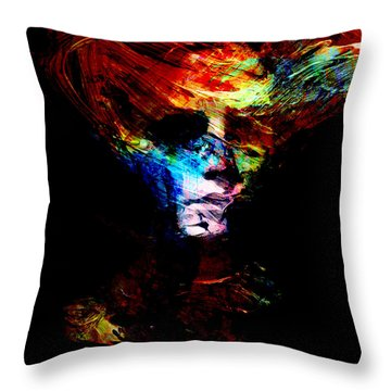Abstract Ghost Throw Pillow