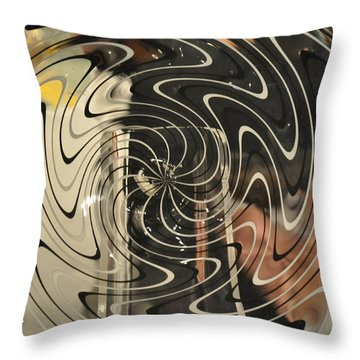 Abstract Glass 3 Throw Pillow by Marty Koch