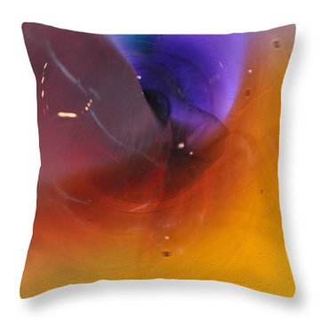 Abstract Glass 56 Throw Pillow by Marty Koch