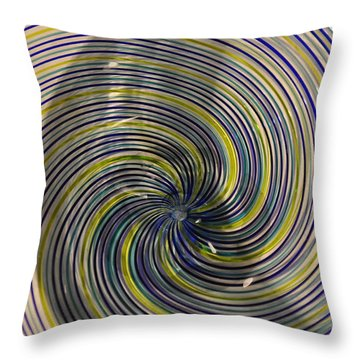 Abstract Glass 6 Throw Pillow by Marty Koch