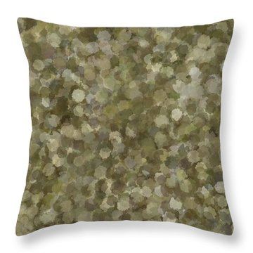 Throw Pillow featuring the photograph Abstract Gold And Cream 2 by Clare Bambers