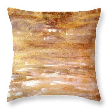 Abstract Golden Sunrise Beach  Throw Pillow