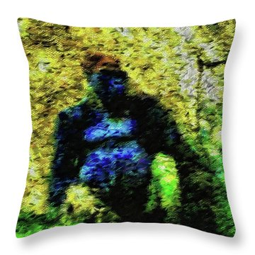 Abstract Gorilla 10 Throw Pillow