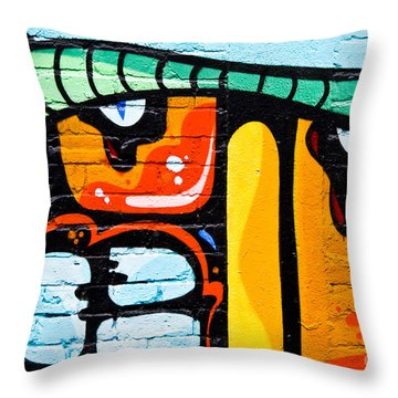 Abstract Graffiti Face Throw Pillow