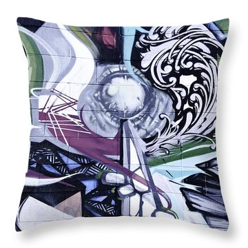 Abstract Graffiti Throw Pillow