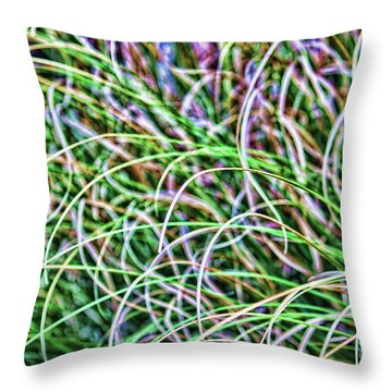 Abstract Grass Throw Pillow