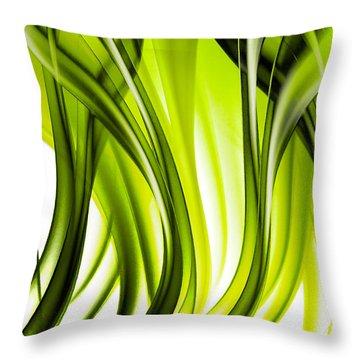 Abstract Green Grass Look Throw Pillow