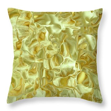 Abstract Green Satin Pillow Throw Pillow