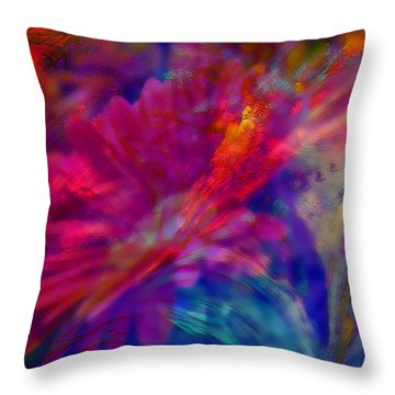 Abstract Gypsy Flower Throw Pillow