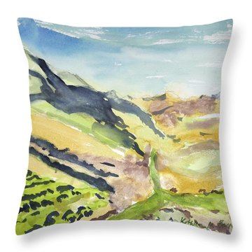 Abstract Hillside Throw Pillow