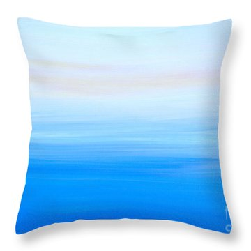 Throw Pillow featuring the painting Abstract Hl312016 by Mas Art Studio