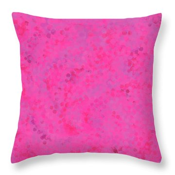 Throw Pillow featuring the mixed media Abstract Hot Pink And Lilac 4 by Clare Bambers