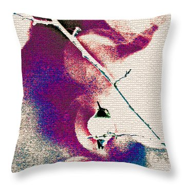 Throw Pillow featuring the photograph Abstract Hummer by Lila Fisher-Wenzel